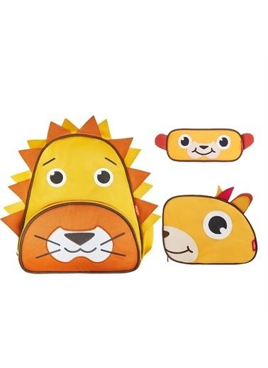Zoozy Aslan Çanta Seti (Sırt Çanta-Beslenme Çantası-Kalemlik) Renkli